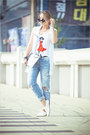 White-choies-bag-black-zerouv-sunglasses-white-sheinside-vest