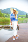 White-blackfive-hat-light-blue-blackfive-flats-white-choies-pants