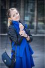Blue-choies-dress-blue-sheinside-jacket-navy-nowistyle-bag