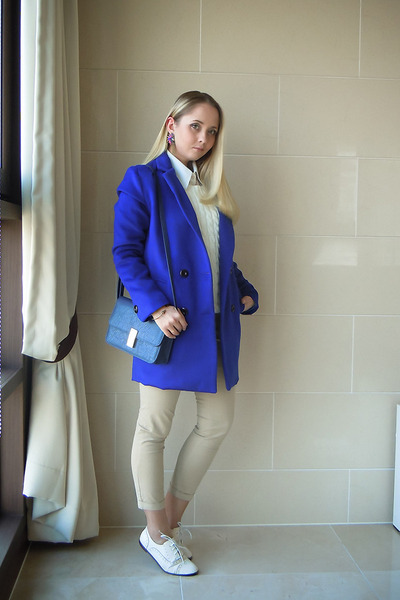 Sheinside coat - OASAP sweater - Miss Nabi bag - Miss Nabi loafers