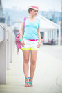 Hot-pink-balenciaga-bag-white-imomoi-shorts-aquamarine-chicwish-watch