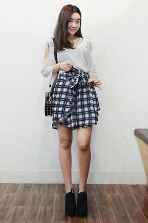 black yubsshop bag - navy yubsshop skirt - yubsshop heels