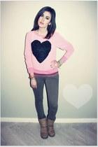 bubble gum WILDOFX sweater - mustard Ugg Australia boots