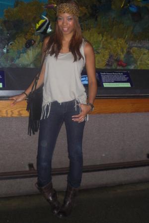 Zara shirt - DL 1969 jeans - Zara boots - Vinatge purse - scarf