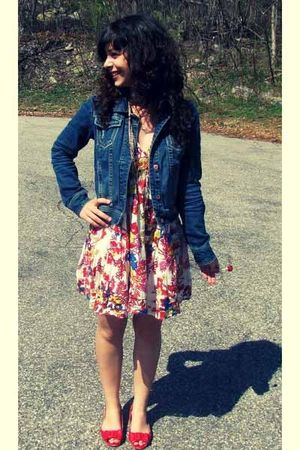 red Soda shoes - Aeropostale jacket - Forever 21 dress