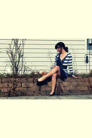 Macys cardigan - American Eagle dress - american eagle by payless shoes - Claire