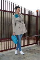 turquoise blue Musette bag