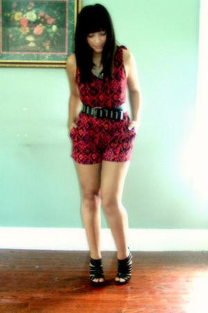 red Walmart jumper - black Charlotte Russe shoes