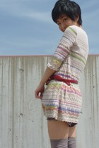 light pink tunic from japan dress - heather gray Topshop shorts
