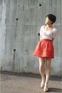 Zara-top-orange-h-m-skirt