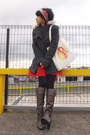 Heather-gray-boots-gray-max-co-coat-red-hermes-scarf