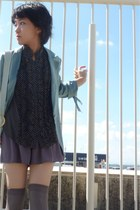 sky blue linen from japan blazer - heather gray Topshop shorts