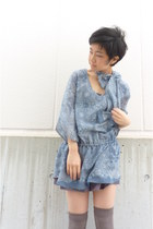 periwinkle tunic from japan top - periwinkle bow scarf