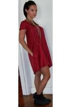 ruby red graham and spencer dress - dark gray Steve Madden boots