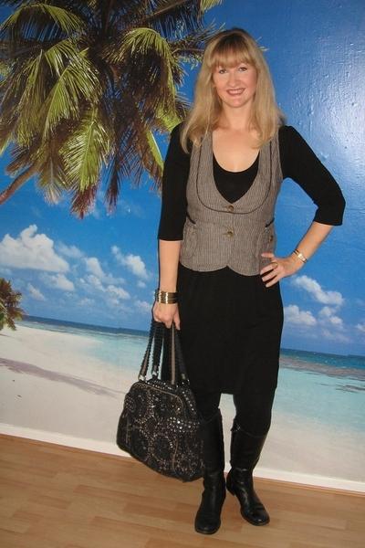 vest - dress - purse