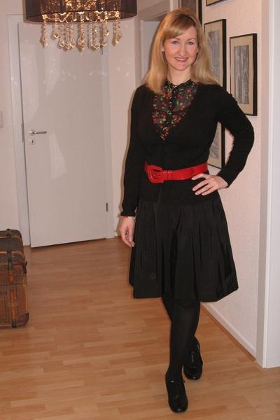 H&M blouse - H&M skirt - belt