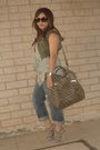 Green-vintage-vest-green-newlook-top-gray-zara-shoes-silver-guess-purse-