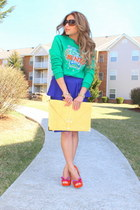 peplum skirt Topshop skirt - Kenzo sweater - asos bag - Jeffery Campbell heels