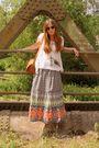 Brown-thrifted-purse-gold-asos-necklace-orange-primark-skirt