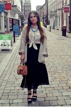 off white Primark shirt - light orange Topshop bag - eggshell Topshop cardigan -