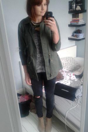 River Island jeans - Zara boots - Miss Selfridge jacket