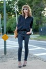 Dark-gray-skinny-james-jeans-black-oversized-madewell-shirt
