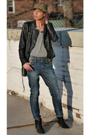 R13 jeans - dicker Isabel Marant boots - baseball cap FairEnds hat