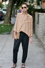 Camel-silk-equipment-shirt-leopard-print-madewell-purse