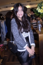 H&M cardigan - vintage skirt