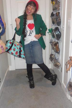 Forever 21 blazer - Forever 21 boots - Betsey Johnson purse