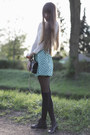 Charcoal-gray-ddear-cashmere-sweater-turquoise-blue-manoush-skirt
