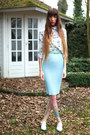 Bubble-gum-daisy-duck-tights-light-blue-nat-tim-blouse-light-blue-zara-skirt