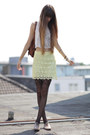 Black-asos-tights-brown-vintage-bag-light-yellow-zara-skirt
