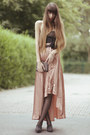 Nude-river-island-skirt-black-valisere-top