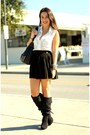 Black-knee-highs-nine-west-boots-gold-gold-spiked-vidakush-bracelet