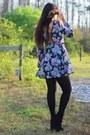 Black-suede-platform-go-jane-boots-bubble-gum-nasty-gal-dress