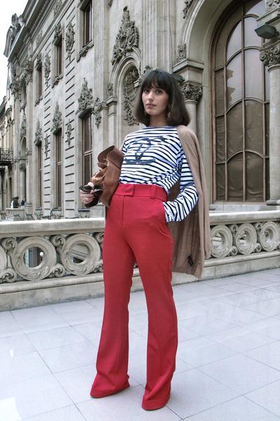 Chanel top - asos bag - Zara cardigan - my design pants