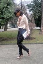 YSL bag - whistles shorts - YSL heels - whistles blouse