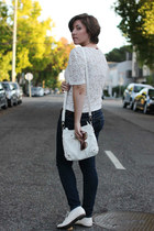 oxfords Call it Spring shoes - Aeropostle jeans - kohls sunglasses - vintage top