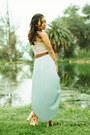Aquamarine-nectar-clothing-skirt-cream-nectar-clothing-top