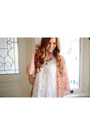 Ivory-nectar-clothing-dress-peach-nectar-clothing-cardigan