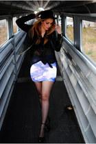 black el corte ingles hat - black Mango jacket - black Shana blouse