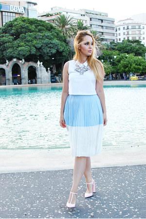 bubble gum Zara shoes - white suiteblanco top
