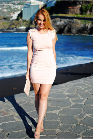 pink Soky & Soka dress - off white Mango shoes - pink suiteblanco bag