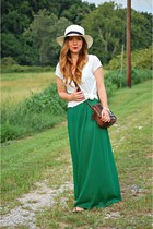 panama hat - maxi dress