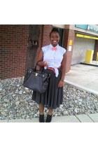 H&M belt - JustFabcom bag - J Crew skirt - Talbot heels