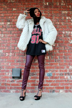 Love Charlie J Saga Fox Fur coat - Thrifted Dennis Rodman top