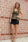 Gold-baroque-peplum-boohoo-top-black-leather-mini-h-m-skirt