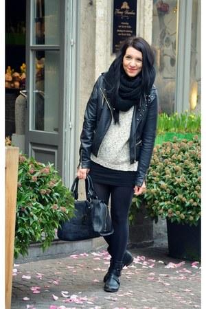 jennyfer jacket - Massimo Dutti sweater - Only scarf - GINA TRICOT bag