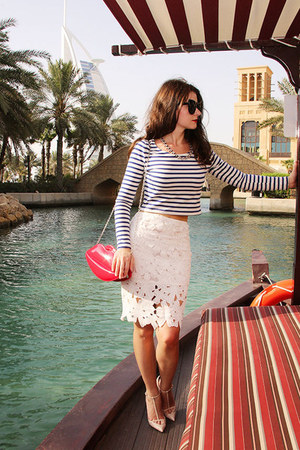 white Sheinside skirt